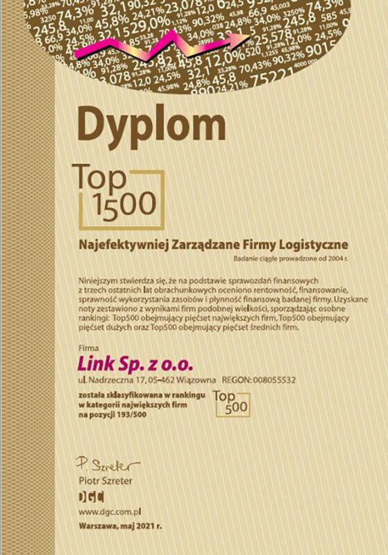 LINK – wśród najefektywniej zarządzanych firm logistycznych!